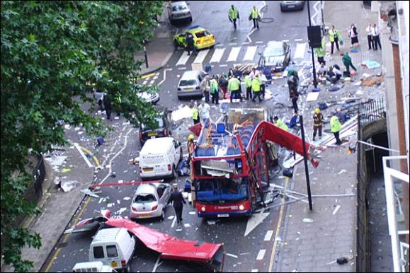 The 7/7 bombing in London